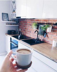 My minimalist yet warm Scandinavian Dining Room makeover Kitchen Furniture, Kitchen Interior, Kitchen Decor, Small Space Interior Design, Interior Design Living Room, Küchen Design, House Design, Beautiful Kitchens, House Rooms