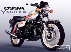Ossa Yankee, 500 cc 2-stroke. European Motorcycles, Vintage Motorcycles, Cars And Motorcycles, Classic Motors, Classic Bikes, Classic Cars, Motorcycle Posters, Motorcycle Manufacturers, Old Boats