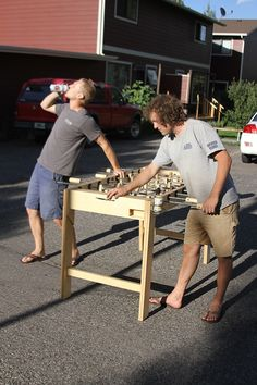 Foosball Coffee Table I Need To Build Something Like This - Foosball coffee table with stools