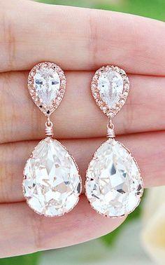 Crystal earrings - Wedding Diary