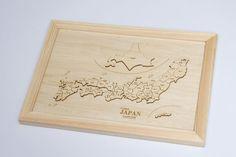 木製地図パズル 日本地図   ぎおんの杜から