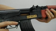 AK47 dummy toy recoil simulation eject shell gun model film movie prop AK 47