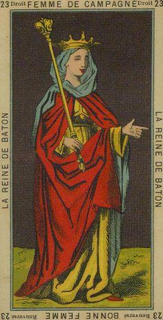 Queen of Wands - Etteilla Tarot