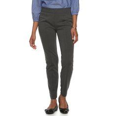 987f79f74aca9 Women's Croft & Barrow Easy Care Straight-Leg Ponte Pants, Size: XS Short,  Dark Grey