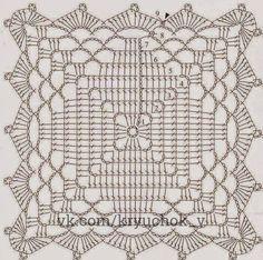 Znalezione obrazy dla zapytania mas imagenescaminos de mesa a crochet en colores – Artofit Crochet Blocks, Crochet Doily Patterns, Granny Square Crochet Pattern, Crochet Squares, Crochet Chart, Thread Crochet, Crochet Granny, Filet Crochet, Crochet Designs