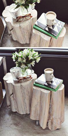 Toquinho de madeira. http://vilabacana.com.br/diy/toquinho-de-madeira-na-decoracao/