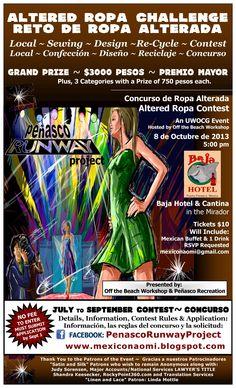 Octubre 08 del 2013: Concurso, Reto de Ropa Alterada: en Baja Cantina