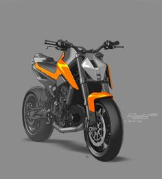 My congratulations to Christof Täubl the designer of the most sexy naked bike Some post card from me Futuristic Motorcycle, Motorcycle Bike, Duke Bike, Ktm Duke, Bike Sketch, Bike Pic, Motorbike Design, Concept Motorcycles, Ride Out