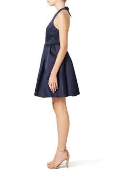 Navy Mimi Bow Dress by ERIN erin fetherston