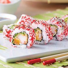Makis inversés aux crevettes tempura et mandarines - Recettes - Cuisine et nutrition - Pratico Pratique