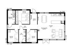 Borohus sjätte Fjärden, Planlösning Cabins In The Woods, Floor Plans, Diagram, Floor Plan Drawing, House Floor Plans