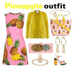 """""""Pineapple outfit"""" by funkyshark ❤ liked on Polyvore featuring Dolce&Gabbana, Humble Chic, I+I, LC Lauren Conrad, Edie Parker and River Island"""