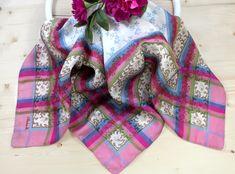 Bad, Plaid Scarf, Pink, Blanket, Fashion, Accessories, Silk Shawl, Vibrant Colors, Dirndl