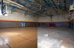 Abandoned Detroit Gym.  As of July 18, 2013, the Motor City officially ran out of gas. Filing for for Chapter 9 bankruptcy, Detroit's debts–a whopping $18 to $20 billion–represent the largest municipal filing for bankruptcy in United States history.  Source: Detroit Urbex