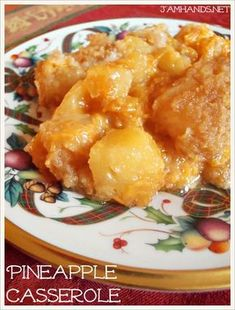 Jam Hands: Pineapple Casserole - this one uses brown sugar or a combo of brown/white sugar - yummy!