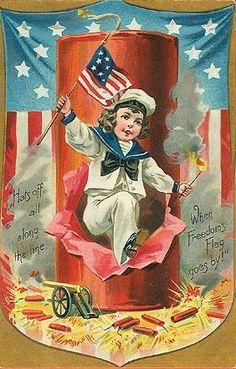 Free of July Vintage Postcards - Vintage Holiday Crafts July 4th Holiday, Fourth Of July, Vintage Greeting Cards, Vintage Postcards, Vintage Images, Holiday Postcards, Vintage Ephemera, Vintage Pictures, Patriotic Images