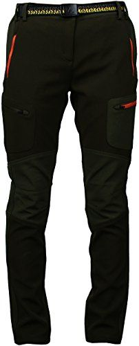 Angel Cola Women's Outdoor Hiking & Climbing Front Cargo Fleece Lined Pants PW5416 Brown 33 Angel Cola