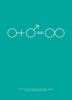 Saved by Ivorin Vrkaš (ivorin). Discover more of the best Poster, Ivorin, Gender, Creative, and Prejudice inspiration on Designspiration Gender Inequality, Gender Stereotypes, Gender Equality Poster, Web Design, Graphic Design, Gender Equity, Women Poster, Intersectional Feminism, Poster