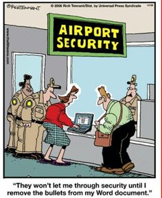 "Airport Security Remove Bullets from Word Funny Meme Airport Security - ""They won't let me through security until I remove the bullets from my word document"". Memes Humor, Funny Memes, Tech Humor, Funny Gifs, Hilarious, Six Word Memoirs, Flight Attendant Humor, Pilot Humor, Multiple Meaning Words"