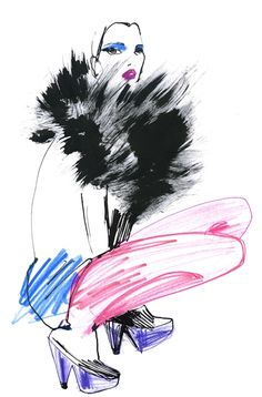 Fashion Illustrations by Lovisa Burfitt. She lives and works in Paris since 2002.