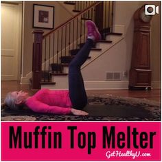 You asked for it! Melt your muffin top with this workout in your own home! Do one minute of each exercise! Repeat if you'd like. This free workout video get's your belly strong again!