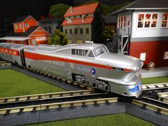 Buy It Now or Find It Locally http://mthtrains.com/30-20320-1 At the station today the just arrive MTH RailKIng O Gauge Union Pacific Aerotrain 30-20320-1. The RailKing Aerotrain operates on O-31 curves and this just arrive Union Pacific model has a MSRP of $429.95. Ask your MTH Dealer about getting one today.