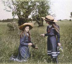 "Maria and Anastasia Romanov known as ""the little pair""."