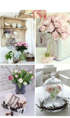 I love the flowers in the tin...want to see if I can make one for my house....
