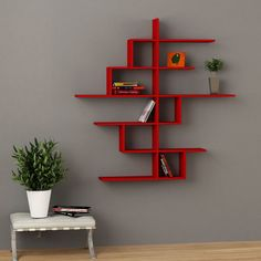 Description: Sleek and Elegant, the Decortie Cizgi No4 Wall Shelf features a stunning design that would look fabulous in any contemporary interior. Featuring si