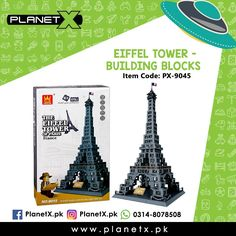 Product: Eiffel Tower - Building Blocks Item Code: PX-9045 Price: Rs 4750  @planetx.pk  Whatsapp: 03148078508  Description: - LEGO COMPATIBLE - Enhances childs creativity and imagination. - Interlocking Blocks - Type: Building Blocks - Color: Multi-Color - Weight: 1.5 kg - Dimensions: 25.4 x 25.4 x 50.8 cm - Age: 3 years  #CashOnDelivery #Pakistan #Karachi #Islamabad #Lahore #PlanetX #PakistanShopping #LikeForLikes #F4F #FollowForFollow #LearningKids #Toy #InstagramPakistan #ShopNow…