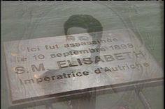 Plaque fixée au pont du Mont-blanc à Genève