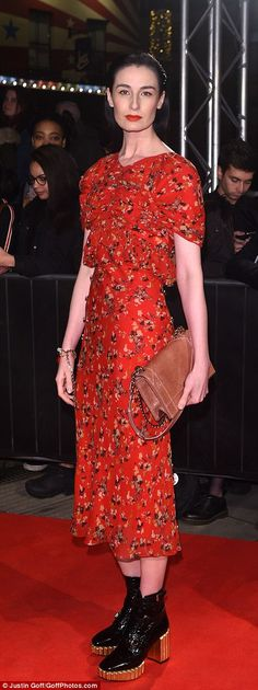 Demure: Model Erin O'Connor and singer Vanessa White wowed the fashion police in their ens...