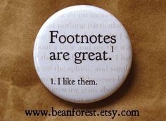 CUTE.  Footnotes are great. 1. I like them. - by beanforest on Etsy