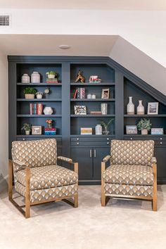 Dream Home Tour: An absolutely gorgeous modern French home in Utah Under Stairs, Southern Living, New Builds, House Tours, Home Kitchens, Shelving, Bookcase, House Plans, New Homes