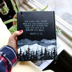 For even the Son of Man did not come to be served, but to serve, and give his life as a ransom for many. #BROsannarevival Manly bibles are fun. Scripture Art, Bible Art, Bible Quotes, Bible Verse Painting, Jesus Quotes, Cute Bibles, Bibel Journal, Bible Covers, The Son Of Man