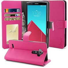LG G4 Case, Tauri [Stand Feature] LG G4 Wallet Case [Anti Scratch] Premium Leather Case with Stand, ID & Credit Card Pockets Flip Cover - Verizon, AT&T, Sprint, T-Mobile, International, and Unlocked (Wallet Case/Hot Pink) Tauri http://www.amazon.com/dp/B00VUI5UUQ/ref=cm_sw_r_pi_dp_RDcJvb1JDMTQG