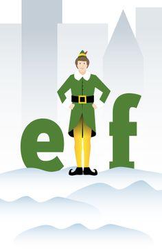 Elf movie minimalist poster by A.A.A. , via Behance