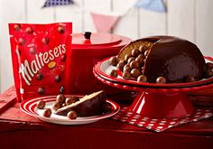 This year, go all out on Red Nose Day - come together with friends and have fun baking with Maltesers® while also raising money for Comic Relief by creating this sensational chocolate dome cake with a surprise middle. Bbc Good Food Recipes, Easy Cake Recipes, Cooking Recipes, Xmas Recipes, Vegetarian Cooking, Muffin Recipes, Soup Recipes, Red Nose Day Cakes, Chocolate Dome