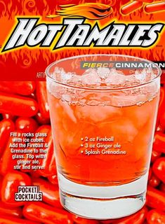 Tequila Mixed Drinks, Mixed Drinks Alcohol, Alcohol Drink Recipes, Liquor Drinks, Cocktail Drinks, Fireball Recipes, Cocktail Recipes, Cocktail Ideas, Punch Recipes