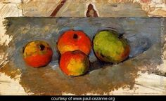 Four Apples - Paul Cezanne - www.paul-cezanne.org...LOVED this when I was a young child. So simple yet so complex.