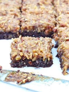 These German Chocolate Brownies look scrumptious! You can never go wrong with #coconut and #chocolate!