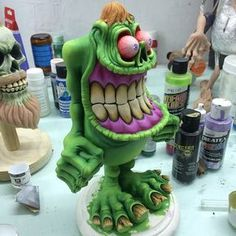 Paper Mache Sculpture Paper Mache Clay Sculpture Art Clay Monsters Cartoon Monsters Funny Monsters Frame By Frame Animation Wooden Statues Scary Art Polymer Clay Sculptures, Sculpture Clay, Diy Halloween Decorations, Halloween Diy, Paper Clay, Clay Art, Clay Projects, Clay Crafts, Clay Monsters