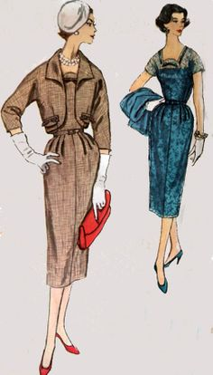 1950s Vintage Sewing Pattern Simplicity 2420 by sandritocat, $23.00