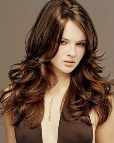 Dark Brown Hair with Caramel Highlight Trend