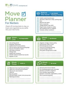 Moving Apartment Checklist: Best images about apartment moving ...