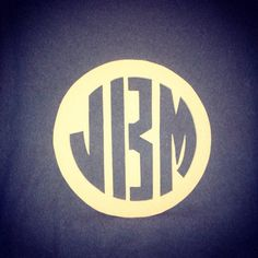 "20"" Circle monogram (B) by ACCENT PEACE (JenLKP) on Etsy, $45.00"