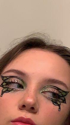 Cute Makeup Looks, Makeup Eye Looks, Eye Makeup Art, No Eyeliner Makeup, Pretty Makeup, Skin Makeup, Indie Makeup, Edgy Makeup, Grunge Makeup