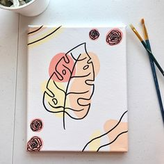 Small Canvas Paintings, Easy Canvas Art, Small Canvas Art, Cute Paintings, Mini Canvas Art, Disney Canvas Art, Body Paintings, Painting Canvas, Hippie Painting