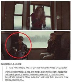 Harry's face in this seen is priceless, he is uncomfortable for himself as well as Ron... those tags are perfection.