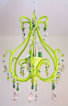 170 best lighting images on pinterest chandeliers chandelier and vintage chandelier lime green aloadofball Choice Image